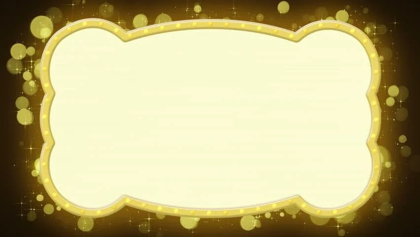 Animated Christmas Lights Wallpaper Flash Light Gold Marquee Computer Generated Seamless Loop