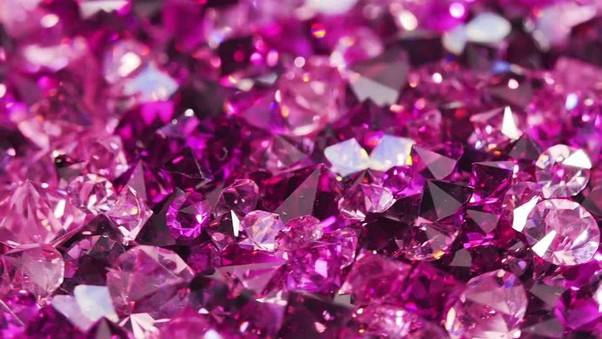3d Heart Wallpaper Backgrounds Close Up Purple Crystals Rotating Shinny And Beautiful