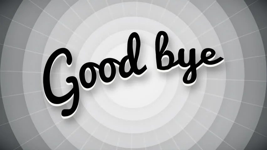 Stock video of good bye typography old movie animation 17101876 - animation title