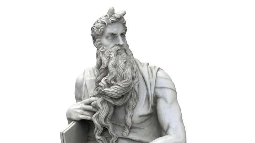 Sculpture of Moses By Michelangelo, Stock Footage Video (100