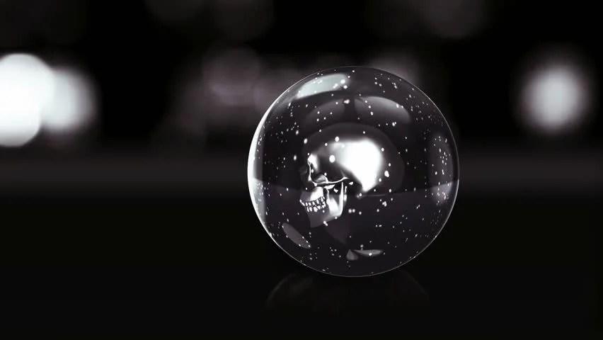 Pokemon 3d Live Wallpaper Stock Video Of Skull In Dark Glass Ball With 1939216