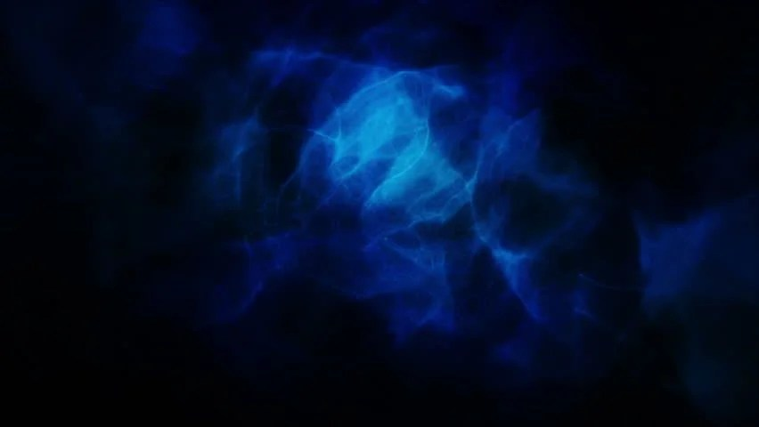 Animated Blue Smoke Against a Stock Footage Video (100 Royalty-free