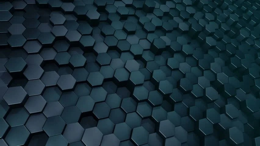 Wallpaper Teknologi 3d Abstract Hexagons Background Random Motion 3d Loopable