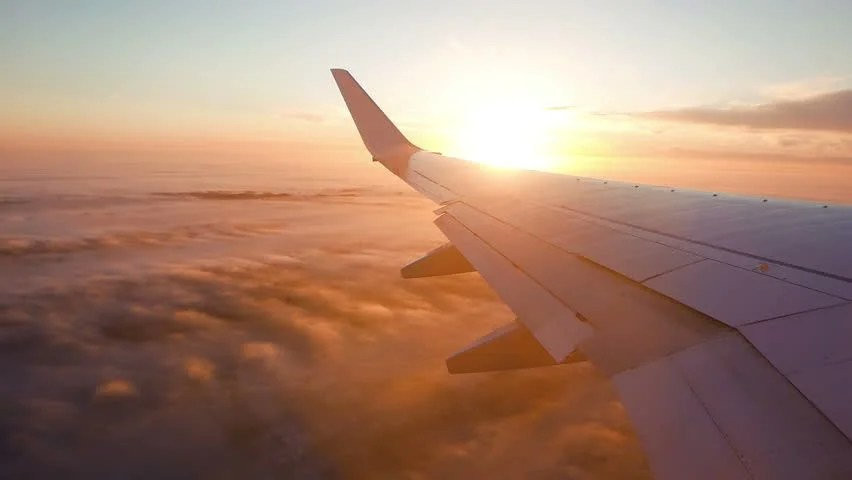 Sunrise Wallpaper Iphone 6 View From The Wing Of An Airplane Image Free Stock Photo
