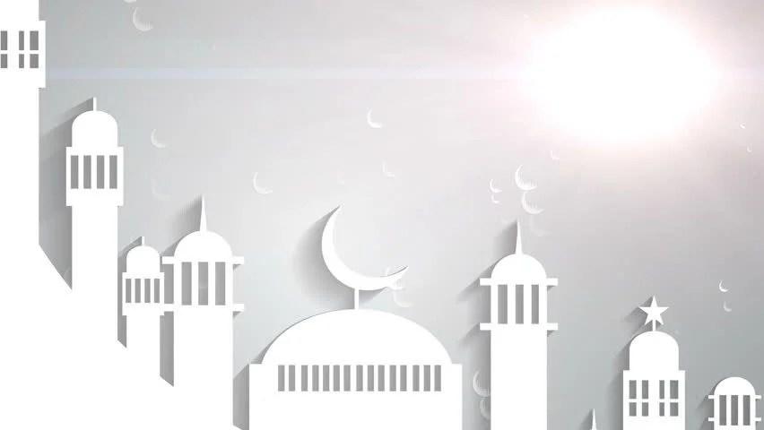 3d Wallpaper Maker Islamic Ramadan In White Moon Stock Footage Video 100
