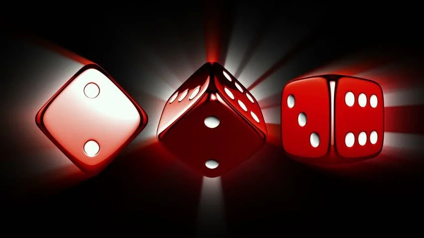 3d Money Wallpaper Casino Dices Spinning Casino Theme Background With