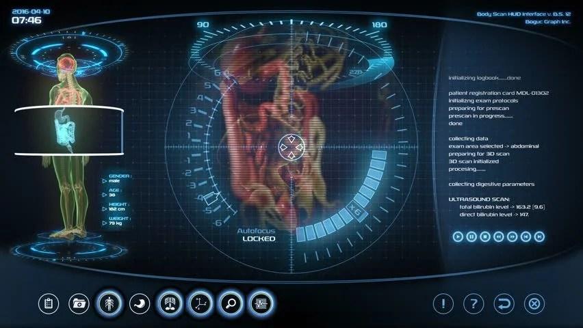3d Hologram Wallpaper Gif Futuristic Brain Scan Holographic Medical Application