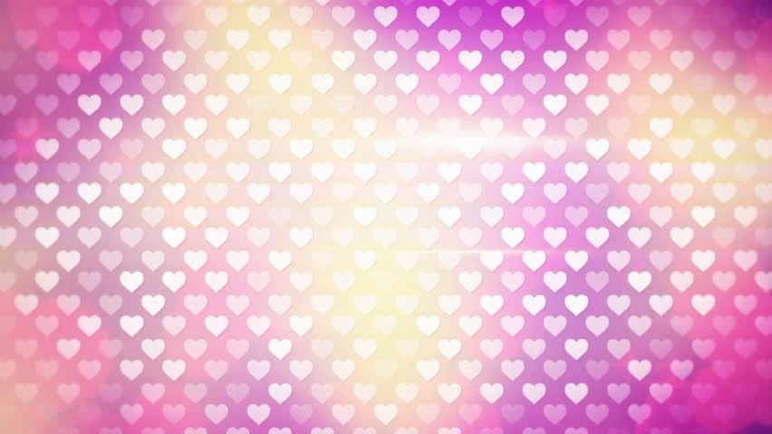 Polka Dot Hearts Computer Generated Stock Footage Video (100