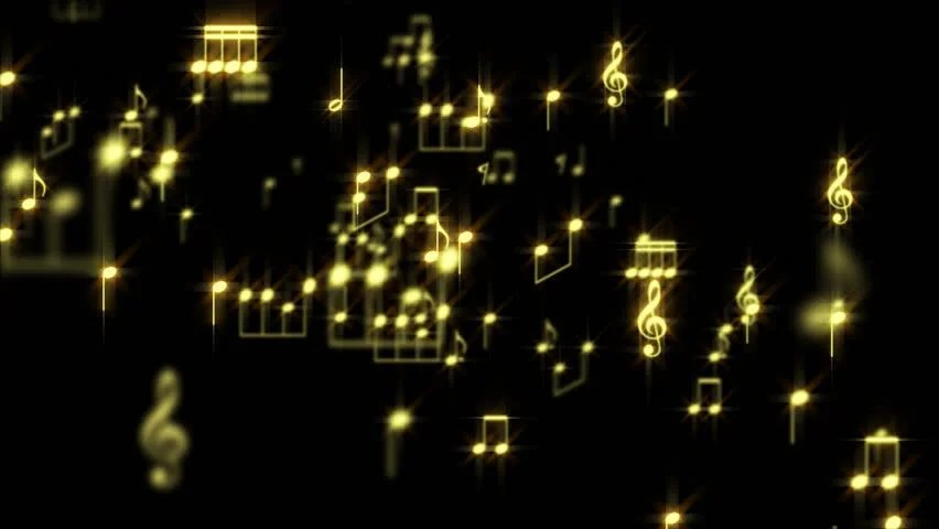 Wallpaper 3d Moving For Mobile Gold Music Notes Particles World Stock Footage Video 100