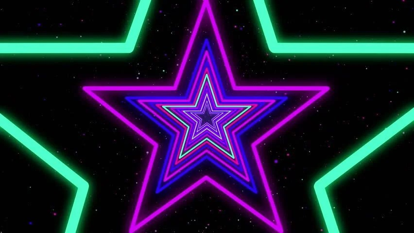 Dallas Cowboys Iphone 7 Wallpaper Star Neon Streaks Disco Led Laser Loop Background Energy