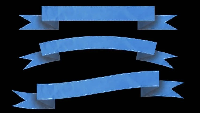 Animated Ribbon Banners for Your Stock Footage Video (100 Royalty