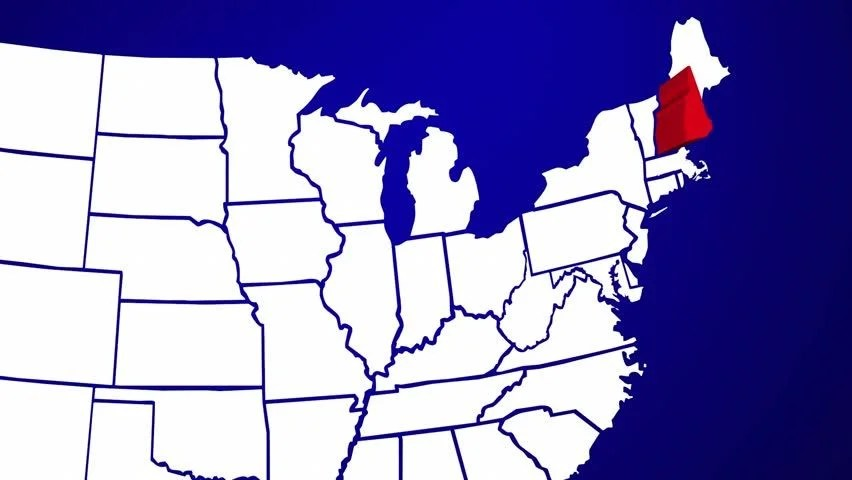 hd0010New Hampshire NH United States of America 3d Animated