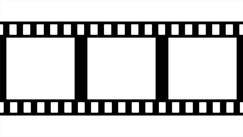 Film Strip Moveing On White Stock Footage Video (100 Royalty-free