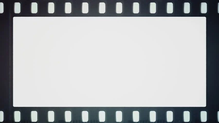 Film Reel Moves Horizontally with Stock Footage Video (100 Royalty