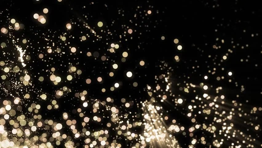 Falling Glitter Confetti Wallpapers Christmas Golden Sparkle Background With Particles Flowing