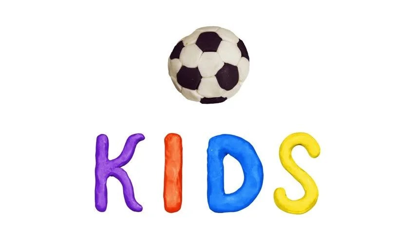 Stock Video Clip of Clay Animation Title Kids and football Alpha - animation title