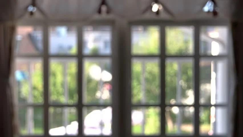 Blurred Windows, Interior Blurry View Stock Footage Video (100