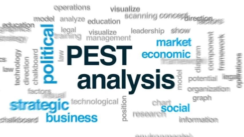 Pest Analysis Animated Word Cloud, Stock Footage Video (100