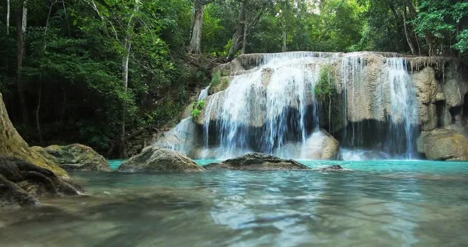Fall Foliage Wallpaper 1920x1080 Stock Video Of Idyllic Waterfall And Serene Environment Of