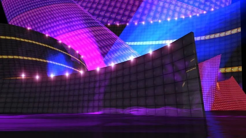 3d Moving Animation Wallpaper Download New Disco Motion Background With Spotlight Flare Effect