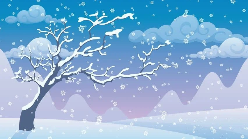 Free Snow Falling Live Wallpaper Stock Video Clip Of Winter Landscape Cartoon Winter