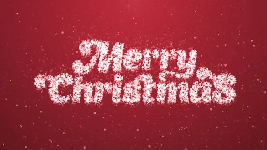 Merry Christmas Greeting Intro Card Stock Footage Video (100