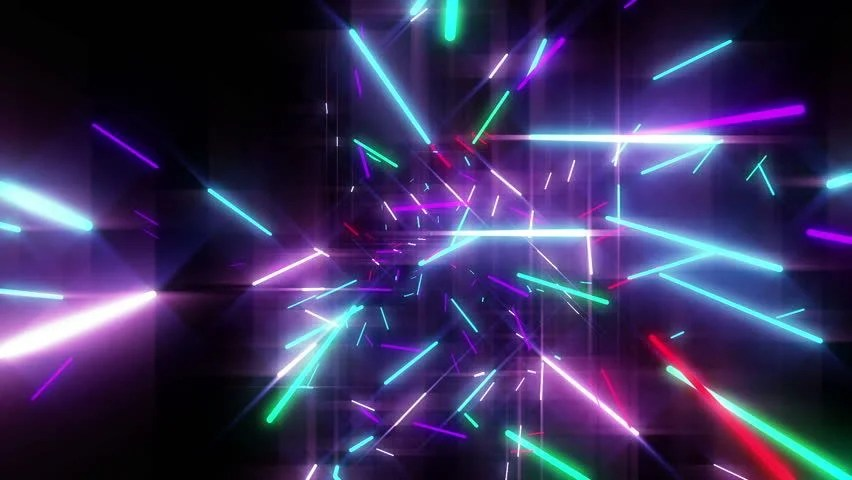 Animation of Colorful Neon Disco Stock Footage Video (100 Royalty