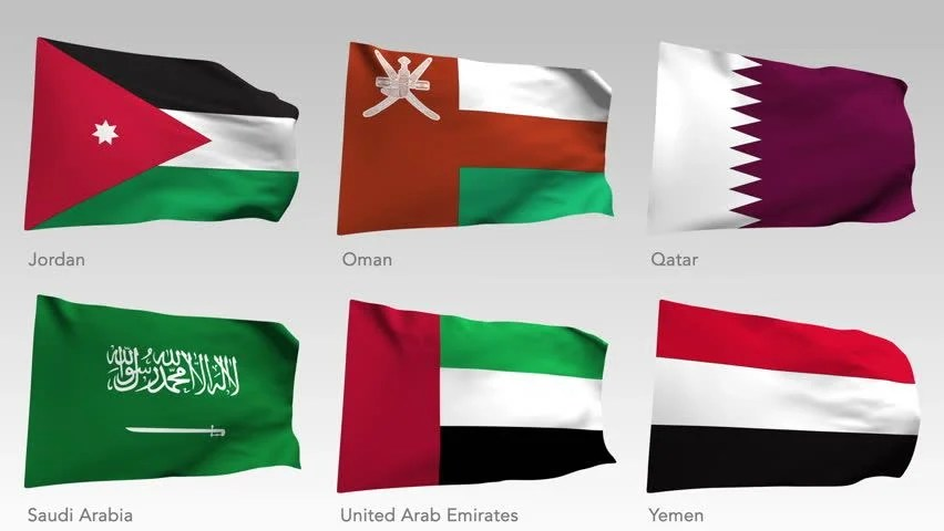 hd0034Animated flags of the East and middle East with alpha