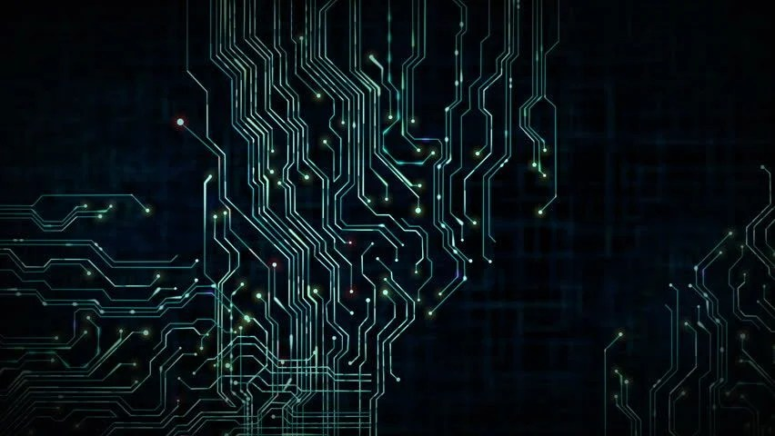 Animated Printed Circuit Board Background Video de stock