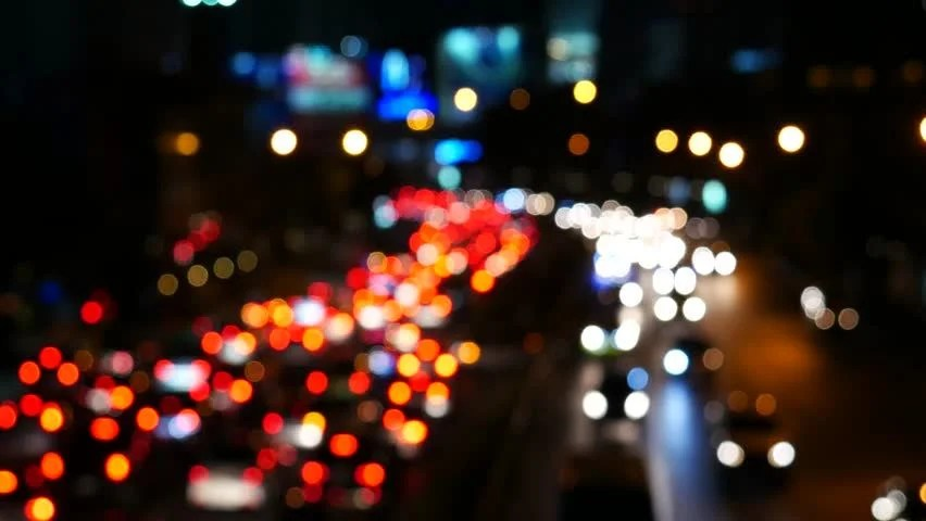 Christmas Car Lights Hd Wallpaper Desktop Bokeh From Car Light On The Traffic Road Stock Footage