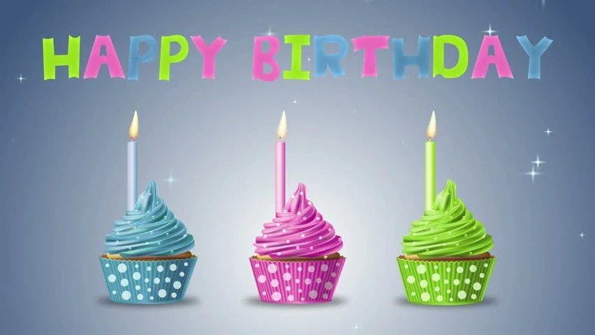 Knowledge Quotes Wallpapers 4k Stock Video Clip Of Happy Birthday With Cupcakes And