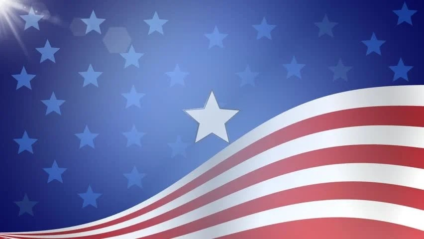 American Flag Background Stock Footage Video (100 Royalty-free