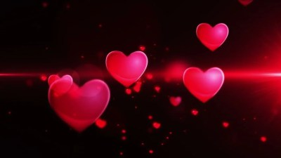 Pink Heart Confetti And Sparks Flying Against Pink Heart In Slow Motion Stock Footage Video ...
