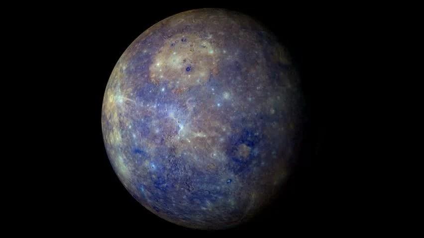 3d Moving Solar System Wallpaper Mercury Rotating The Mercury Spinning Full Rotation