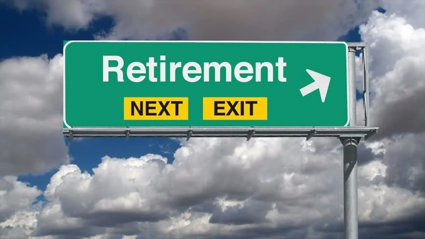Road to Retirement Overhead Freeway Stock Footage Video (100