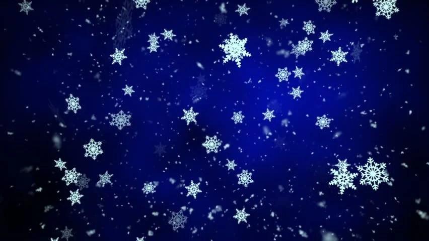 Snow Falling Wallpaper Download Snowfall On Darkly Dark Blue Background Snowflakes Stock