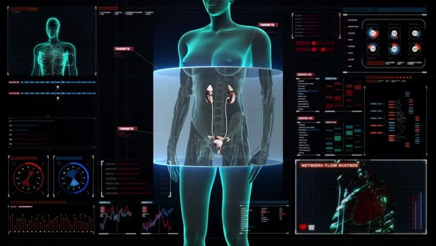 3d Motion Wallpaper Download Man Scan Screen Hi Tech 08 Hd 3d Animation Medical