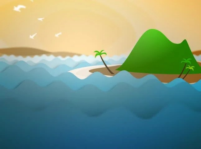 Cartoon Animated Ocean Waves and Stock Footage Video (100 Royalty - ocean waves animations