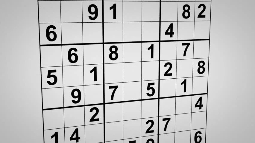 Montage of Solving Sudoku Puzzle Stock Footage Video (100 Royalty