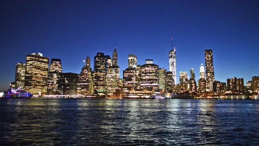 San Francisco Bridge Hd Wallpaper Manhattan At Night New York City View From Brooklyn