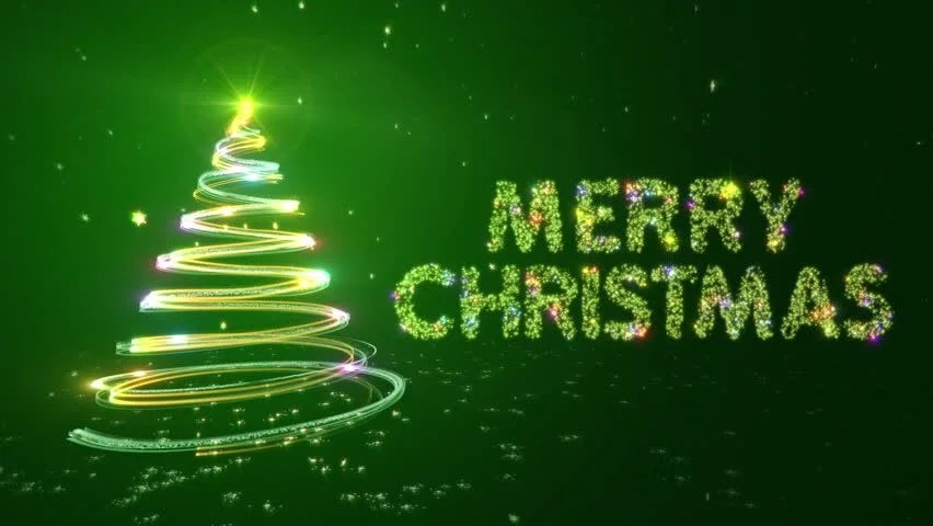 Merry Christmas Background with Bright Stock Footage Video (100