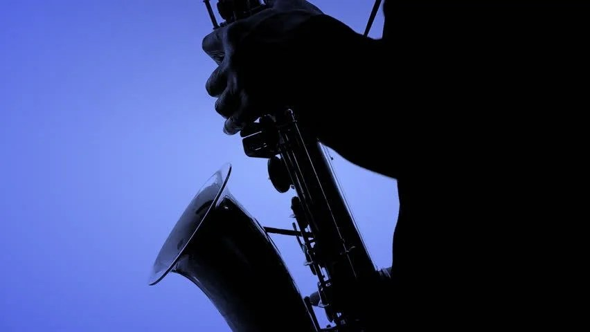 Black Background Wallpaper Solo Saxophone Footage Stock Clips
