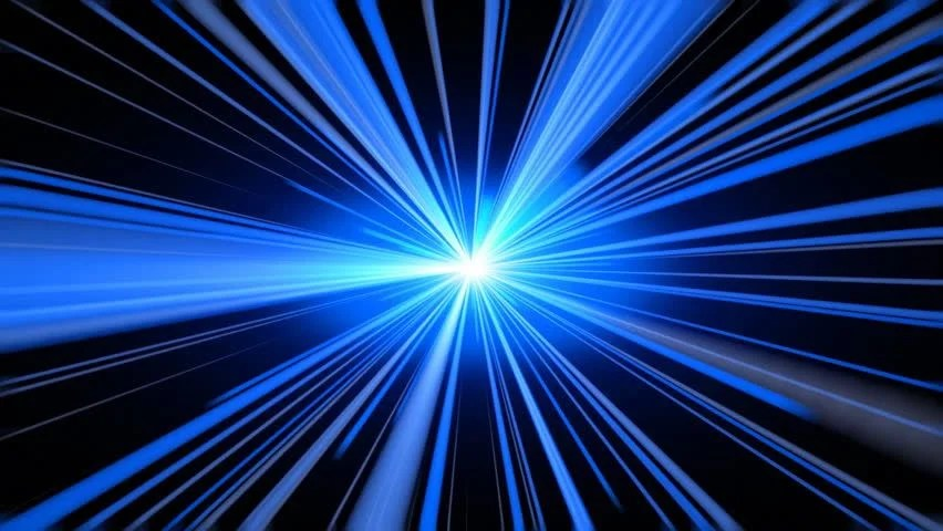 Hyperspace 3d Live Wallpaper Abstract Motion Background Blue Light Streaks Moving Fast