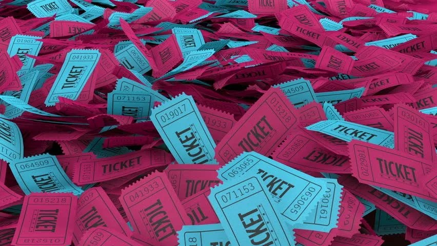 Raffle or Lottery Ticket Stub Stock Footage Video (100 Royalty-free