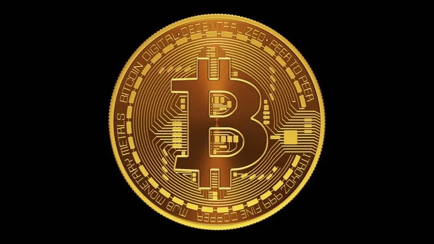 Crypto Wallpaper 3d Rotating Bitcoin On A Green Background Seamless Looping