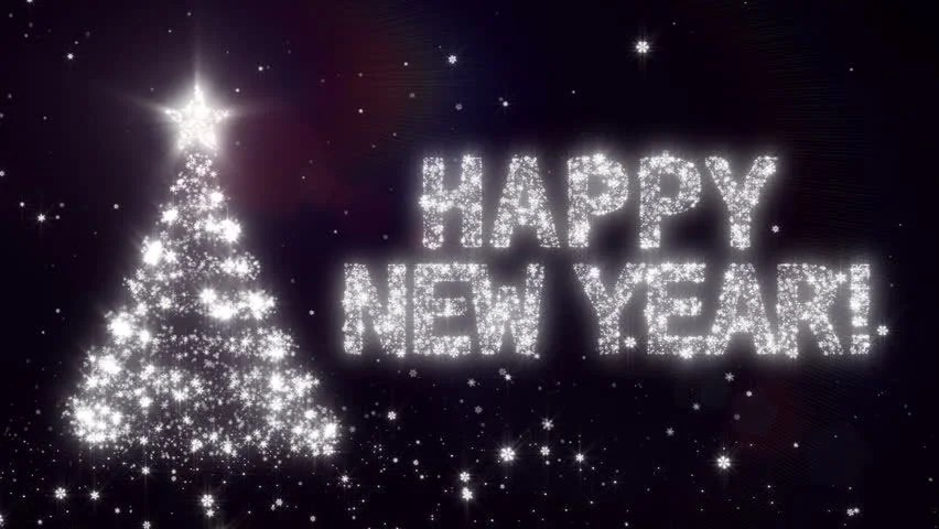 Happy New Year Background with Stock Footage Video (100 Royalty