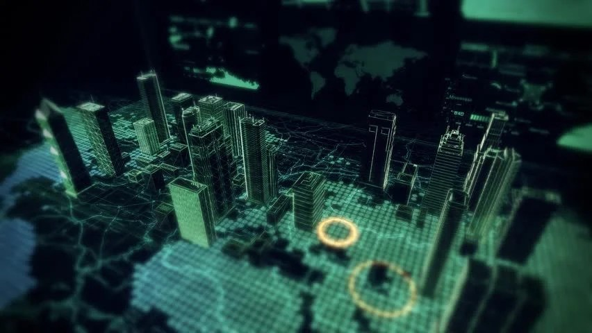 Hologram Wallpaper Hd Stock Video Of Cybernetic City Hologram Flyover Displayed