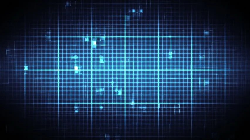 Islamic Wallpaper Hd 3d Blue Ecg On Black And Blue Moving Digital Grid Background