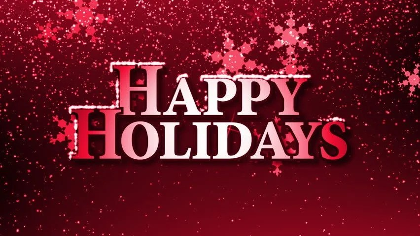 Happy Holidays with Snowflakes Animation Stock Footage Video (100