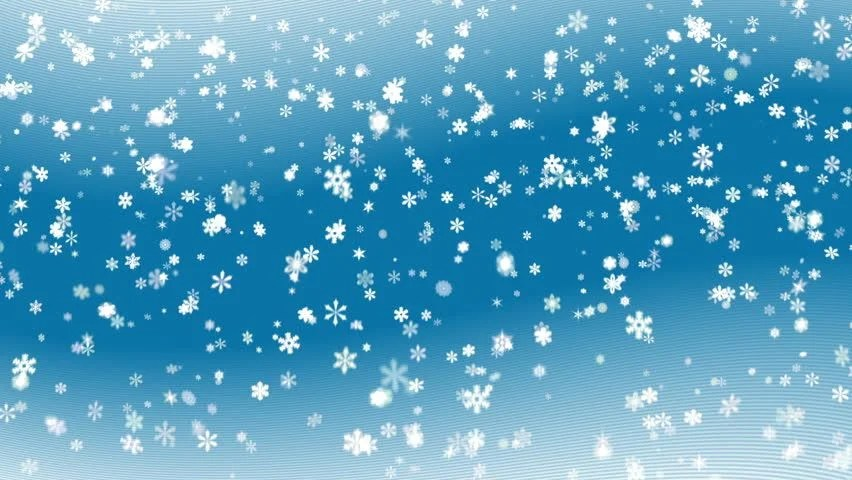 Christmas Wallpaper Snow Falling Blue Abstract Snowy Background Stock Footage Video 100